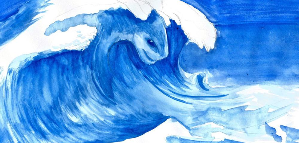 让我们乘着阳光海上冲浪